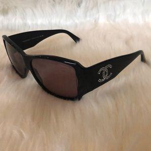 Authentic Chanel Logo Sunglasses